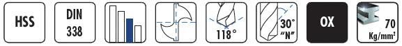 Brocas helicoidales para hierro HSS de 0,2 a 20 mm BM